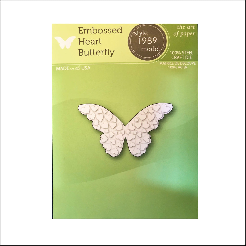 Embossed Heart Butterfly Die Cut by Poppystamps Dies 1989 - Inspiration Station Scrapbook Store & Retreat