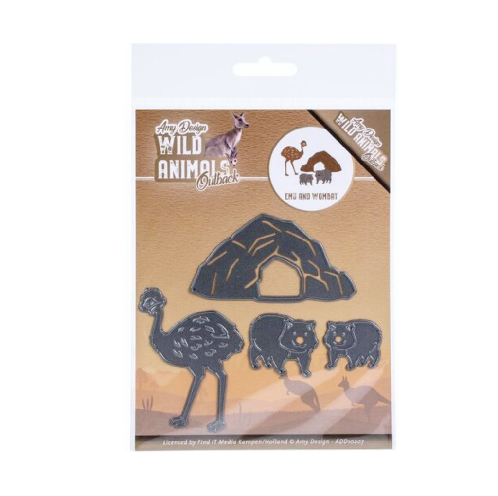 Emu and Wombat Wild Animals Outback Metal Die Cut by Amy Design Dies ADD10207