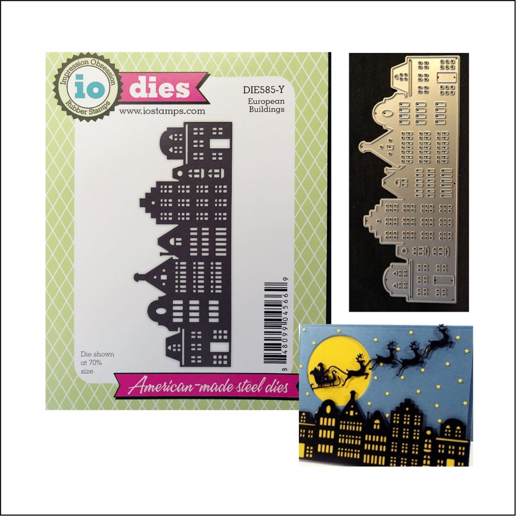 European Buildings Cityscape Die Cut by Impression Obsession Dies DIE585-Y - Inspiration Station Scrapbook Store & Retreat