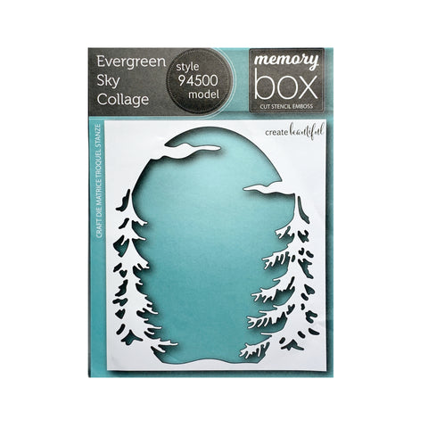 Evergreen Sky Collage Metal Die Cut by Memory Box Craft Dies 94500