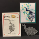 Fancy Peacock Metal Die by Frantic Stamper Dies FRA-DIE-10063 - Inspiration Station Scrapbook Store & Retreat