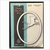 Standing Deer Oval Frame Die by Memory Box Dies 99485 - Inspiration Station Scrapbook Store & Retreat