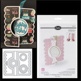 Circle Flip-Its #2 metal die set for interactive cards by Sizzix dies 659171