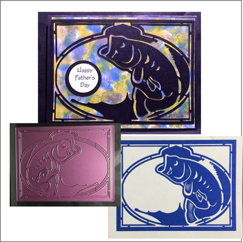 Bass Fish Metal Die Cut by Cheery Lynn Designs Cutting Dies FRM136