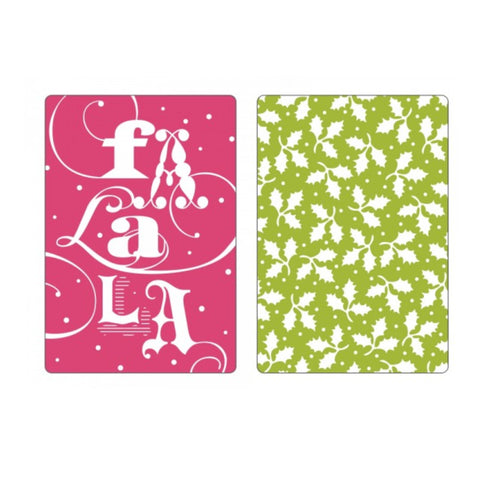 Christmas Fa La La Embossing Folder Set by Brenda Walton for Sizzix 658751 - Inspiration Station Scrapbook Store & Retreat