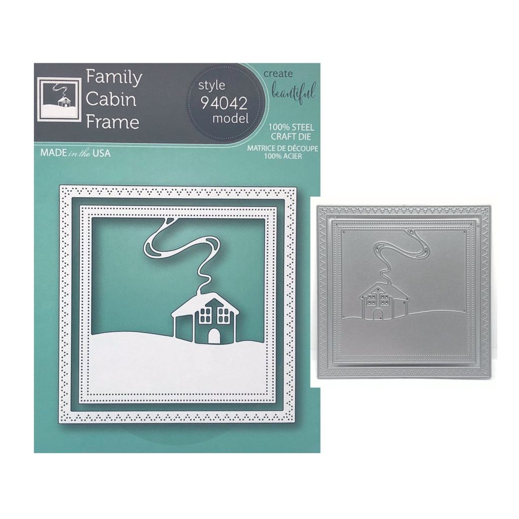 Family Cabin Frame Metal Die Cut Set by Memory Box Dies 94042 - Inspiration Station Scrapbook Store & Retreat
