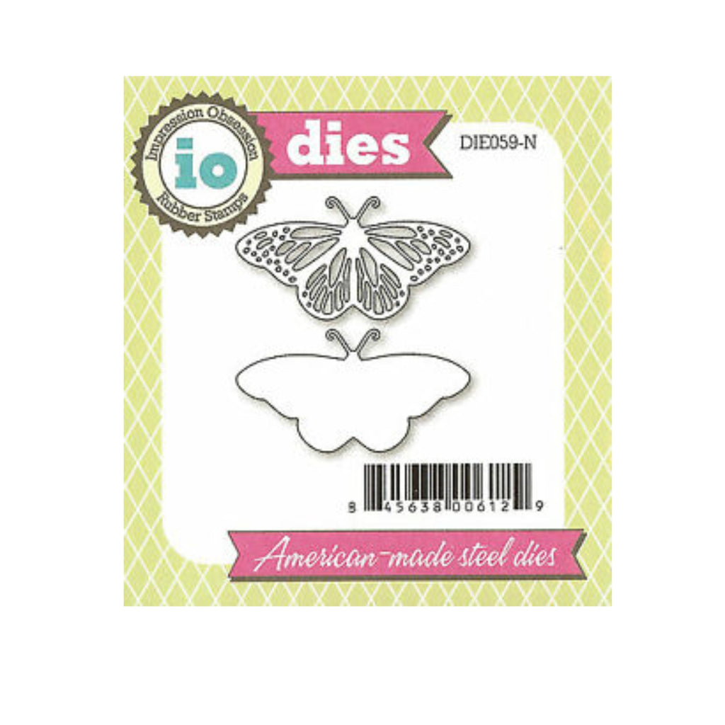 Fancy Butterfly Metal Die Cut Set by Impression Obsession Cutting Dies DIE059-N