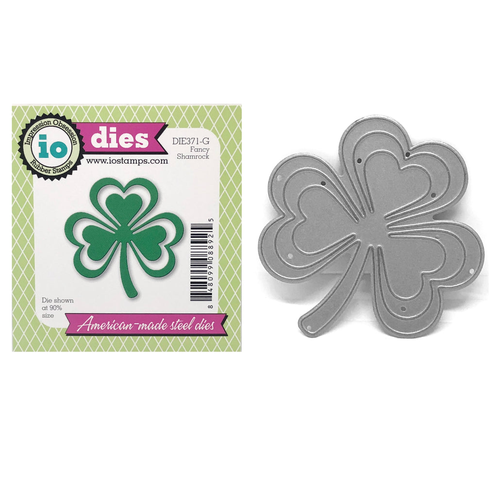 Fancy Shamrock Metal Die Cut by Impression Obsession Dies DIE371-G - Inspiration Station Scrapbook Store & Retreat