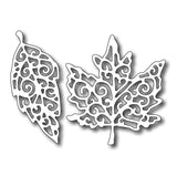 Fancy Leaves (maple & birch) Metal Die Cut by Frantic Stamper Dies FRA-DIE-09275
