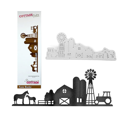 Farm Border Die Cut by Cottage Cutz CC-540 - Inspiration Station Scrapbook Store & Retreat