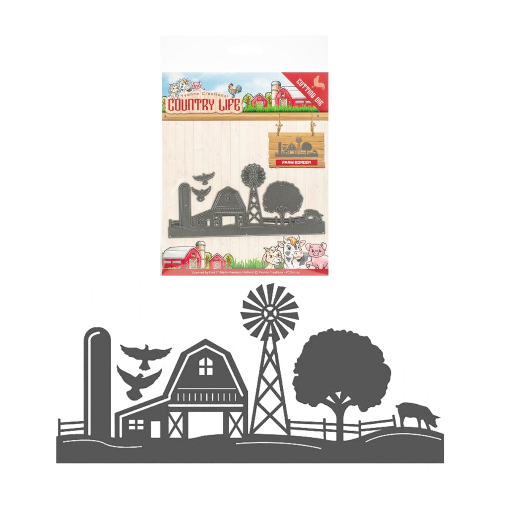Farm Border Die Cut Set by Yvonne Creations YCD10125 - Inspiration Station Scrapbook Store & Retreat