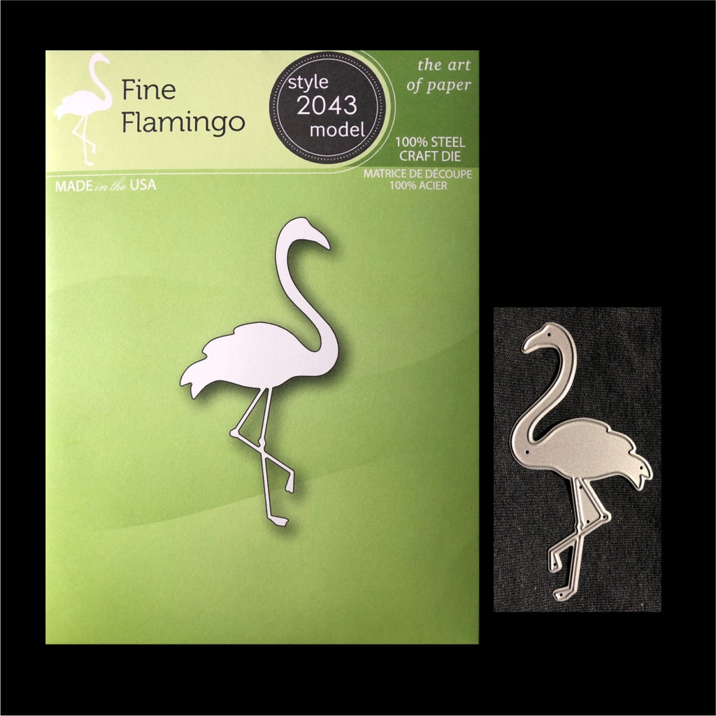 Fine Flamingo Metal Die Cut by Poppystamps Dies 2043 - Inspiration Station Scrapbook Store & Retreat