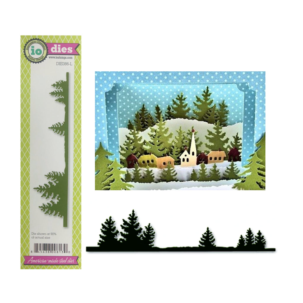 Fir Tree Border Metal Die by Impression Obsession Dies DIE086-L - Inspiration Station Scrapbook Store & Retreat