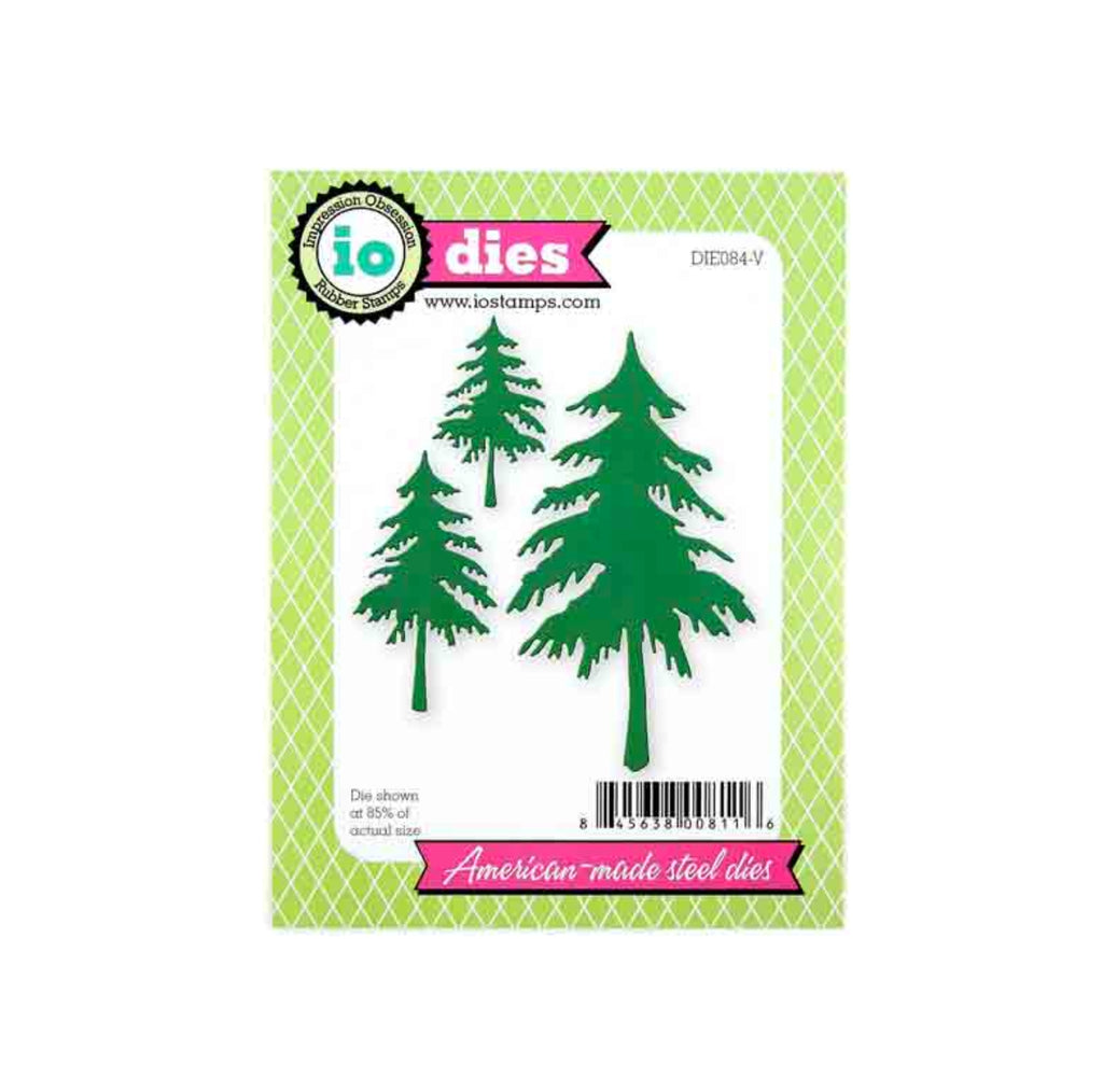 Fir Trees Metal Die Cut by Impression Obsession craft cutting Dies DIE084-V