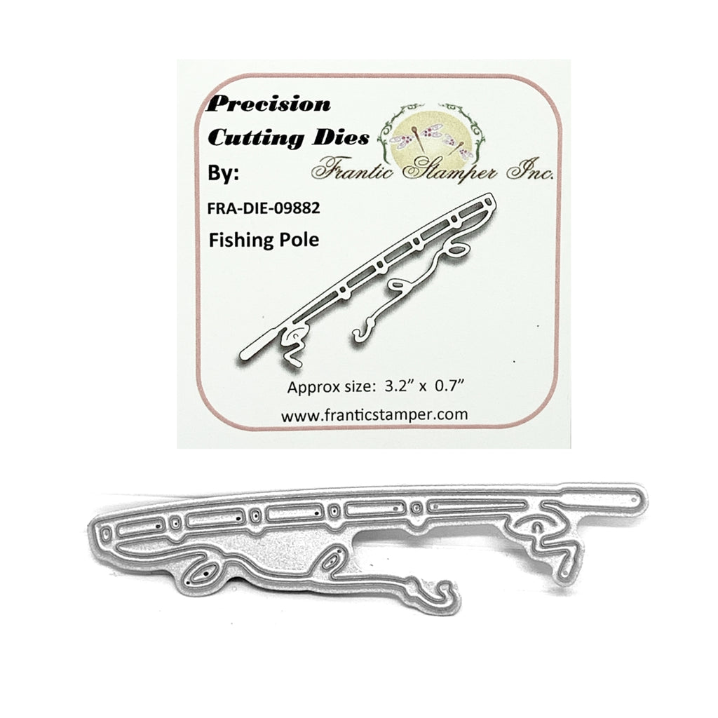Fishing Pole Die Cut Set By Frantic Stamper Dies FRA-DIE-09882 - Inspiration Station Scrapbook Store & Retreat