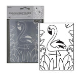 Flamingo Embossing Folder By Darice Embossing Folders 30041365 - Inspiration Station Scrapbook Store & Retreat
