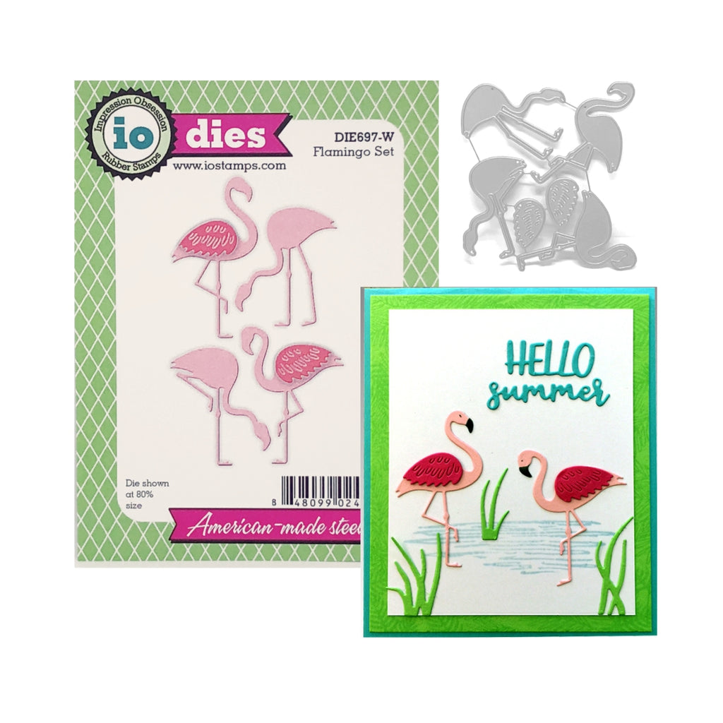 Flamingo Bird Die Cut Set by Impression Obsession Dies DIE697-W - Inspiration Station Scrapbook Store & Retreat
