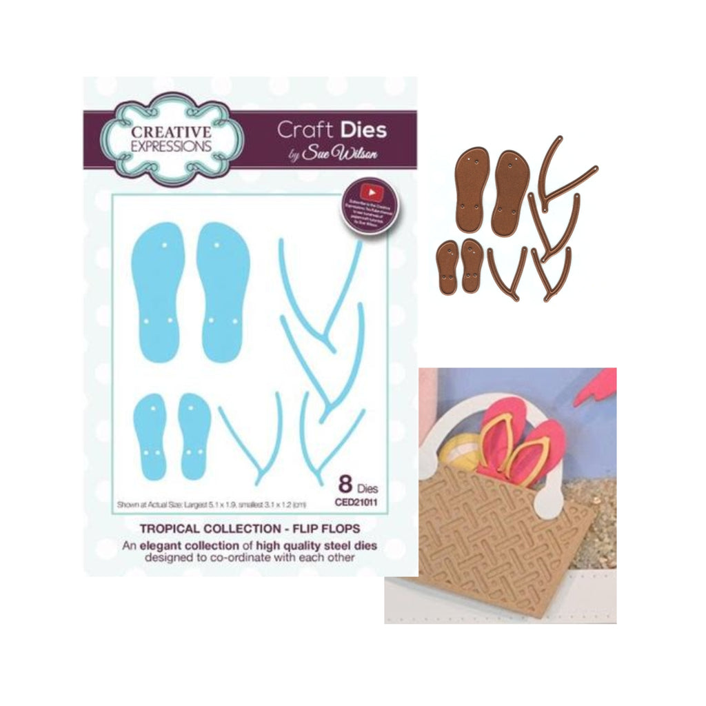 Flip Flops Metal Die Set by Creative Expressions Dies CED21011 - Inspiration Station Scrapbook Store & Retreat