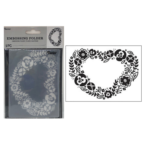 Floral Heart Embossing Folder by Darice Embossing Folders 30041272 - Inspiration Station Scrapbook Store & Retreat