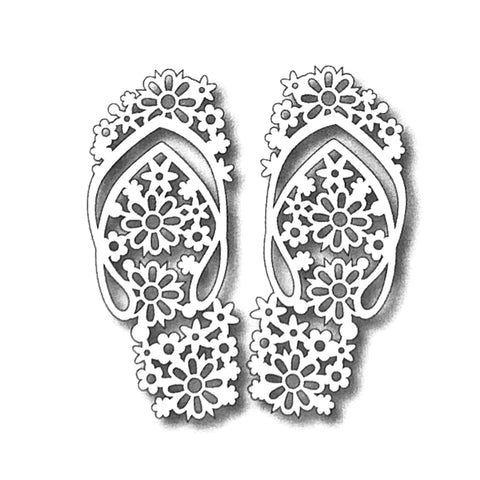 Floral Flip Flops Metal die cut Tutti Designs craft dies