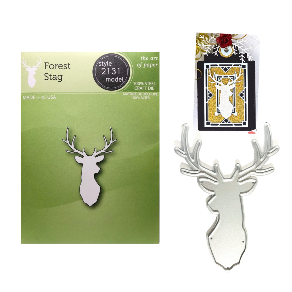 Forest Stag Metal Die by Poppystamps Dies 2131 - Inspiration Station Scrapbook Store & Retreat