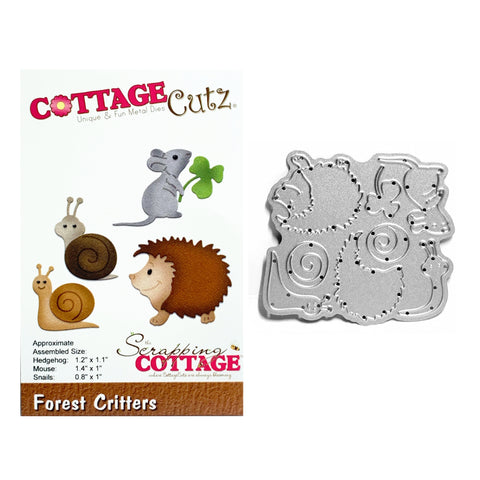 Forest Critters Metal Die Cut By Cottage Cutz Craft Cutting Dies CC-222