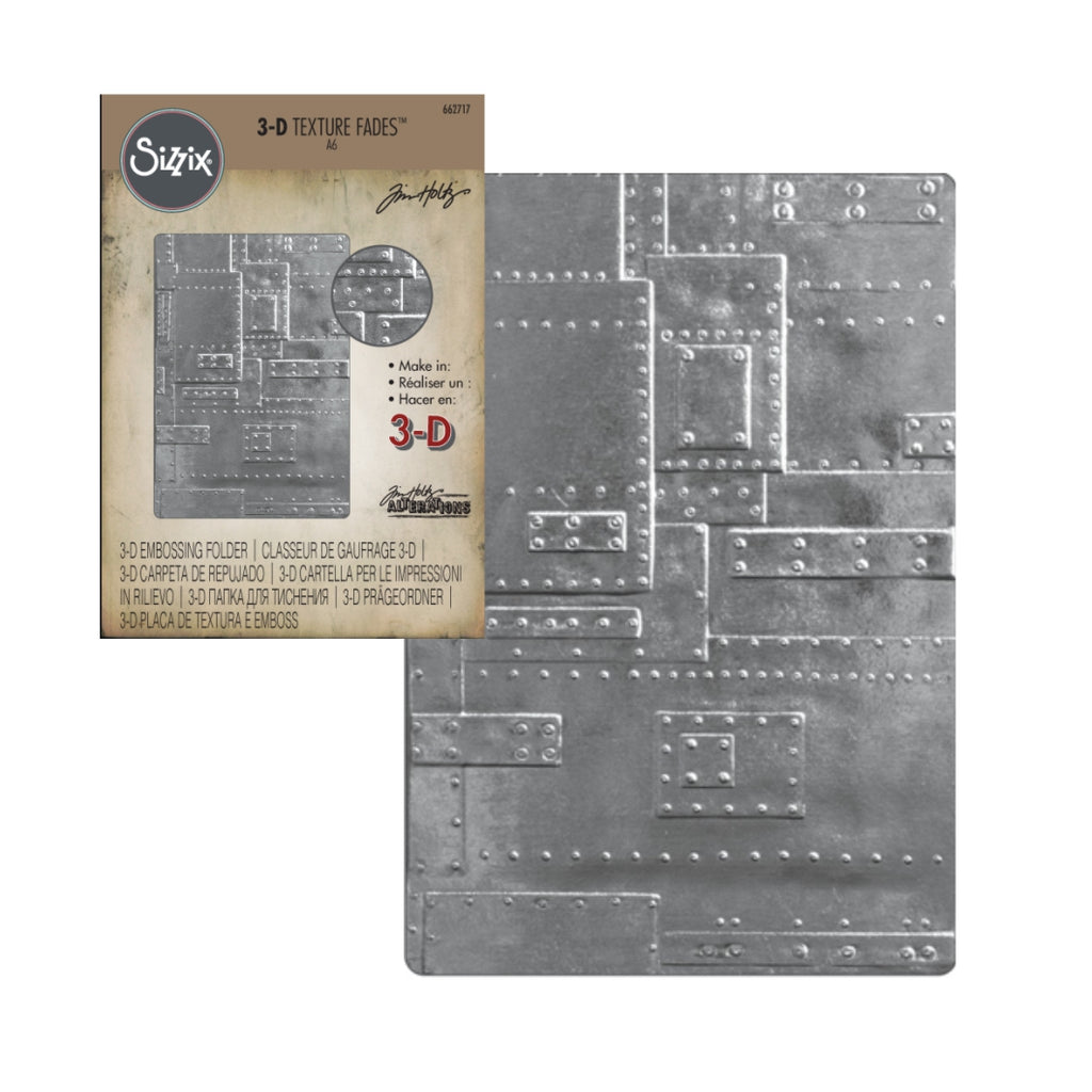 Foundry 3-D Embossing Folder by Sizzix Embossing Folders 662717 - Inspiration Station Scrapbook Store & Retreat