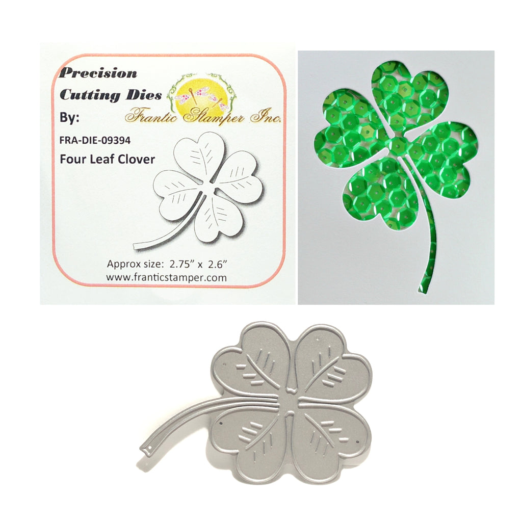 Four Leaf Clover Metal Die Cut by Frantic Stamper Dies FRA-DIE-09394 - Inspiration Station Scrapbook Store & Retreat