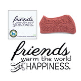 Friends Warm The World Stamp by Impression Obsession D13765 - Inspiration Station Scrapbook Store & Retreat