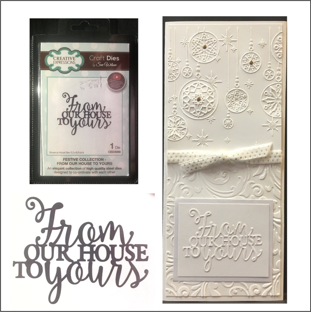 From Our House To Yours Metal Cutting Die by Creative ExpressionsDies CED3099 - Inspiration Station Scrapbook Store & Retreat