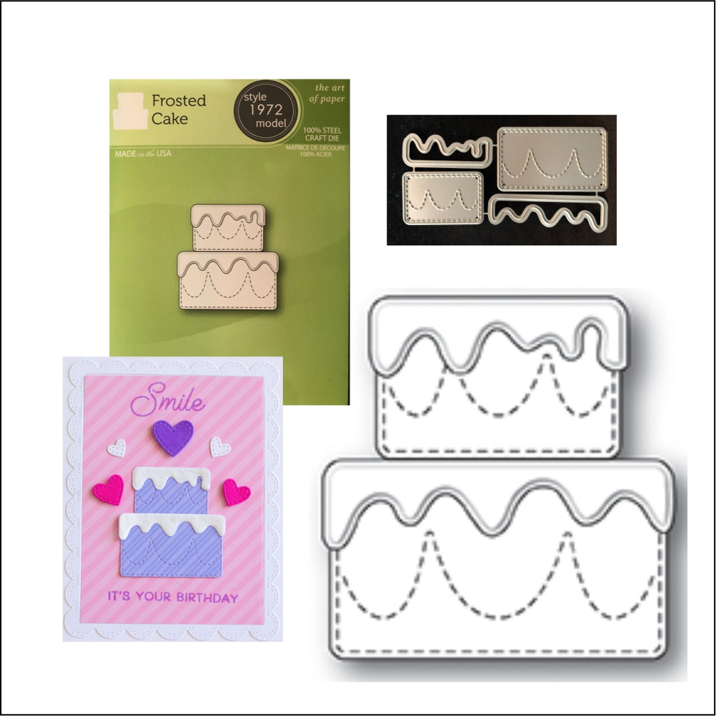 Birthday Frosted Cake Metal Die by Poppystamps Cutting Dies 1972 - Inspiration Station Scrapbook Store & Retreat