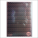 Geometric Chevrons 3-D Embossing Folder by Sizzix Embossing Folders 661949 - Inspiration Station Scrapbook Store & Retreat