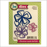 Geometric Flowers Metal Die Cut Set by Impression Obsession Dies DIE521-Z - Inspiration Station Scrapbook Store & Retreat