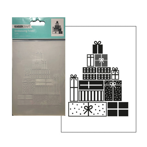 Gifts Embossing Folder by Kaisercraft Embossing Folders EF292 - Inspiration Station Scrapbook Store & Retreat