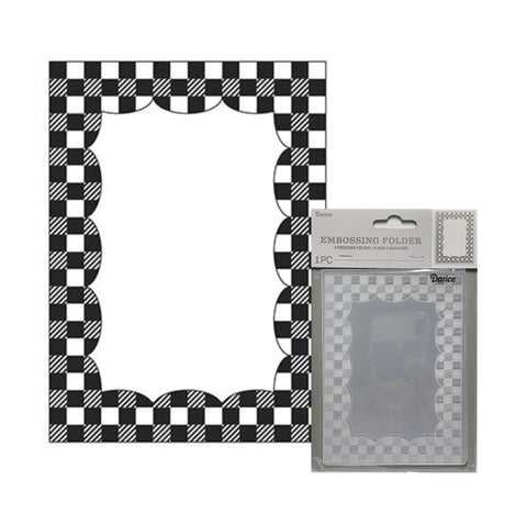 Gingham Border Frame Embossing Folder By Darice craft folders