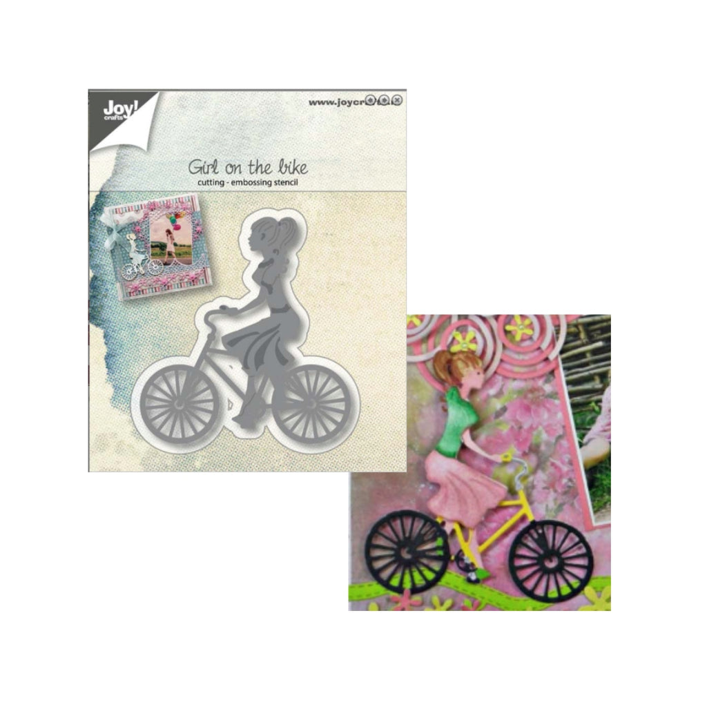 Girl On The Bike Metal Die by Joy Crafts Dies 6002/1058 - Inspiration Station Scrapbook Store & Retreat
