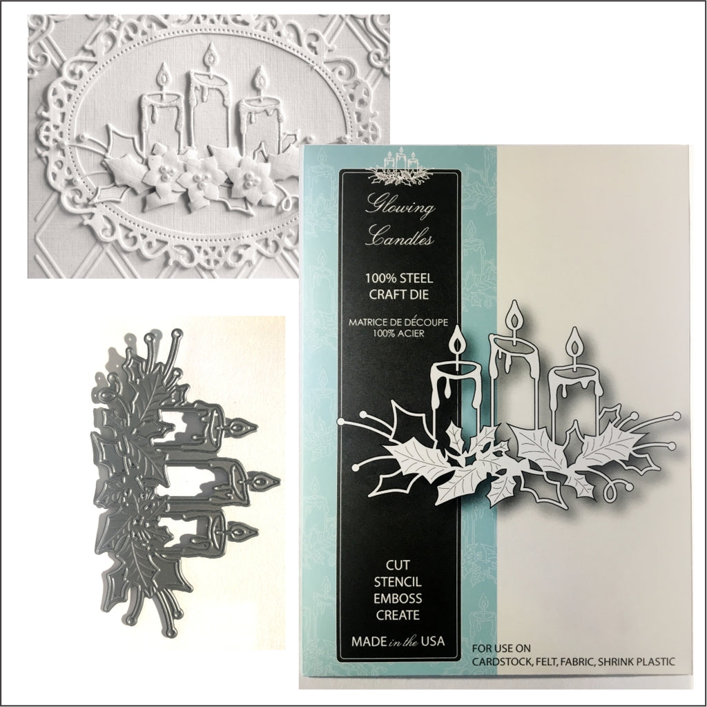Glowing Candles Metal Die by Memory Box Dies 98661 - Inspiration Station Scrapbook Store & Retreat