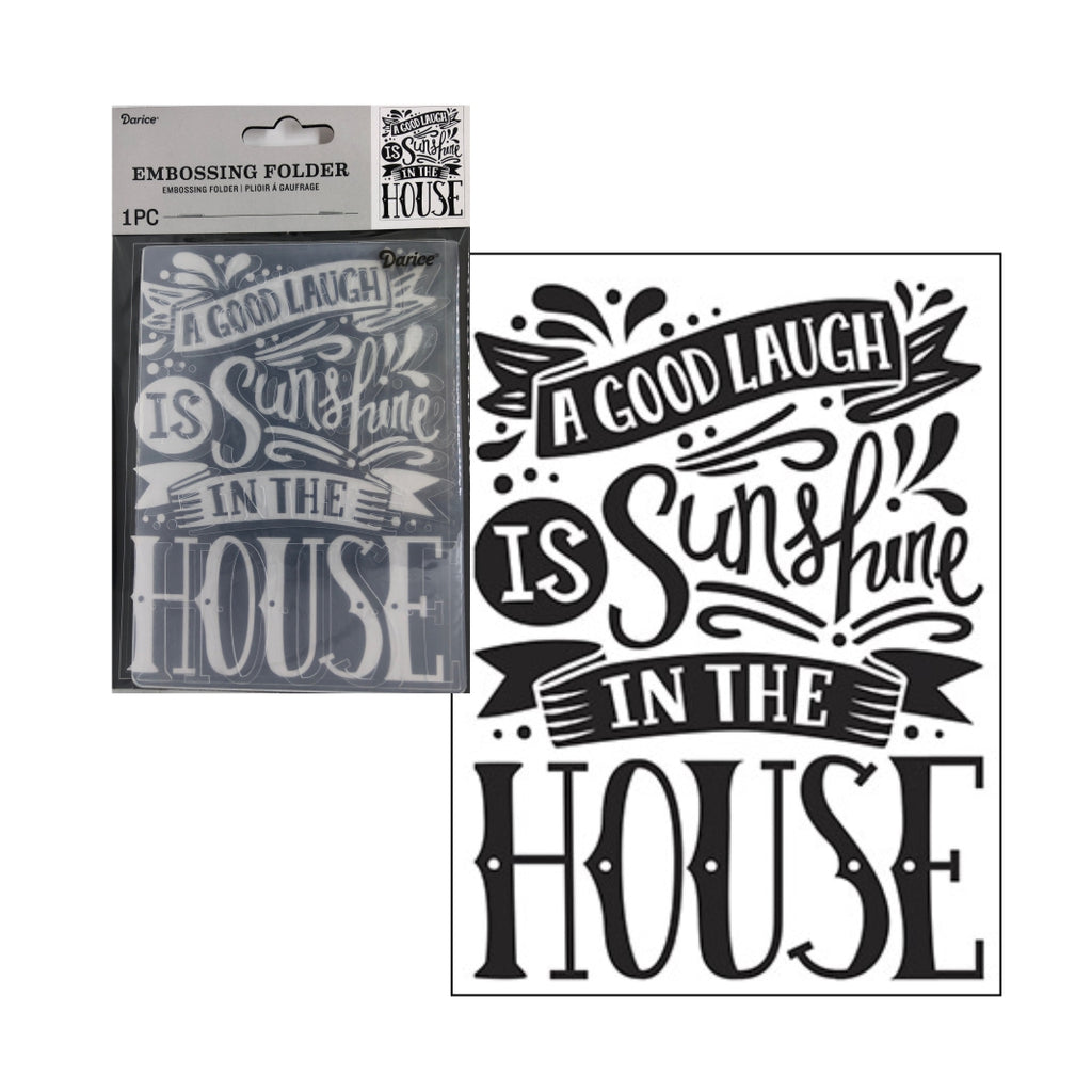 Good Laugh Embossing Folder by Darice Embossing Folders 30041290 - Inspiration Station Scrapbook Store & Retreat