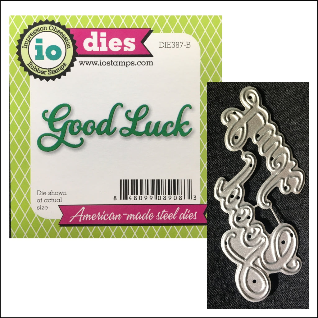 Good Luck Words Metal Die Set by Impression Obsession Dies DIE387-B - Inspiration Station Scrapbook Store & Retreat