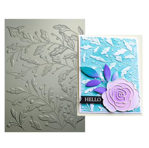 Gracious Leaves 3D Embossing Folder by Memory Box craft folders EF1002