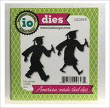 Grads Walking Metal Die Set by Impression Obsession Dies DIE289-R - Inspiration Station Scrapbook Store & Retreat