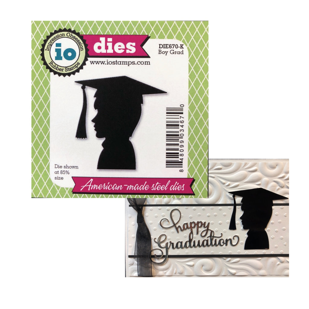 Boy Grad Metal Die by Impression Obsession Dies DIE670-K - Inspiration Station Scrapbook Store & Retreat
