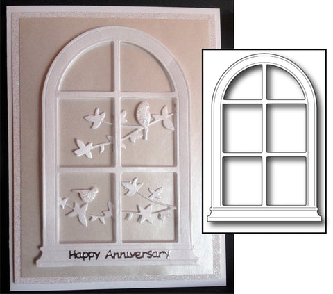 Grand Madison Arched Window Metal Die by Poppystamps Dies 847 - Inspiration Station Scrapbook Store & Retreat