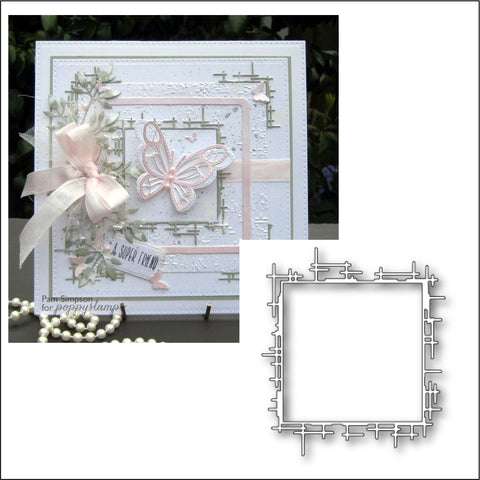 Grand Stick Frame die by Poppystamps dies 1537
