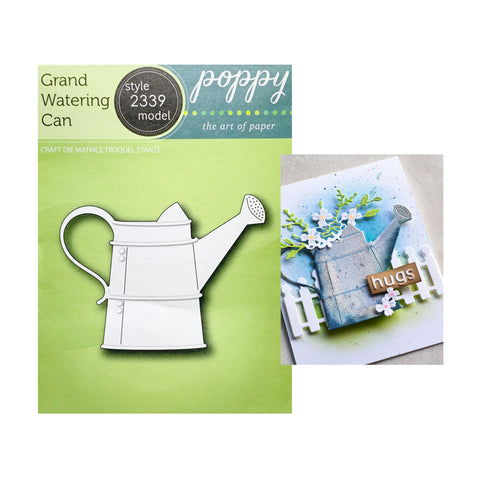 Grand Watering Can Metal Die Cut by Poppystamps Craft Dies 2339