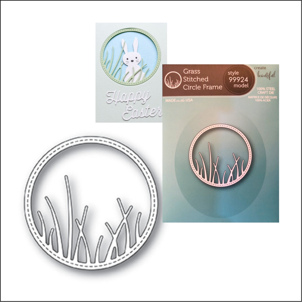 Grass Stitched Circle Frame Metal Die by Memory Box Dies 99924 - Inspiration Station Scrapbook Store & Retreat
