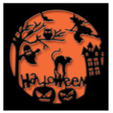 Halloween Scene Die Cut by Impression Obsession Dies DIE588-Y - Inspiration Station Scrapbook Store & Retreat