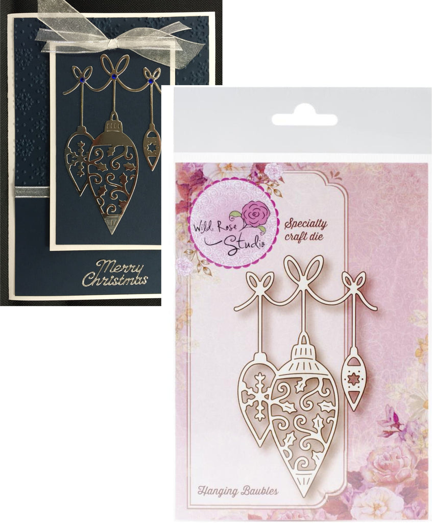 Hanging Baubles Metal Die Cut by Wild Rose Craft Dies SD034 - Inspiration Station Scrapbook Store & Retreat