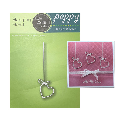 Hanging Heart Metal Die by Poppystamps Dies 2288 - Inspiration Station Scrapbook Store & Retreat