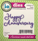 Happy Anniversary Word Set Metal Dies by Impression Obsession DIE627-G - Inspiration Station Scrapbook Store & Retreat